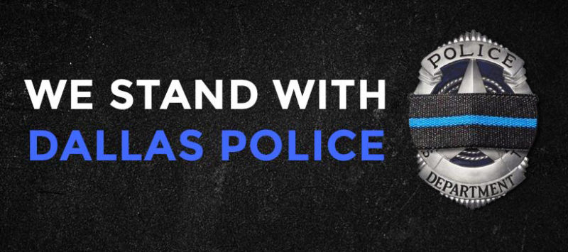 We Stand With Dallas Police